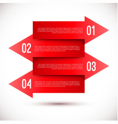modern business infographics arrow template vector image