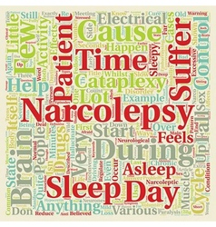 Narcolepsy What Is It And How Can It Be Treated vector image