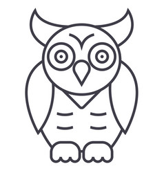 Owlwisdom line icon sign on vector