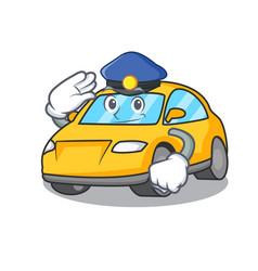 Police taxi character cartoon style vector