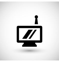 Portable screen icon vector