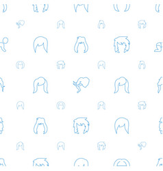 Portrait icons pattern seamless white background vector