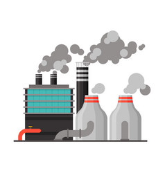 power refinery plant industrial factory building vector image