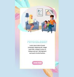 Psychologist online consultation web banner vector