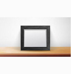 Realistic rectangular black frame good for vector