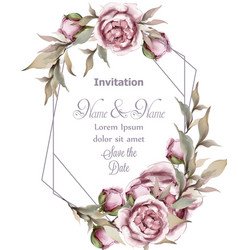 rose delicate abstract frame wedding vector image