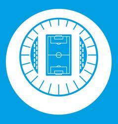 round stadium top view icon white vector image
