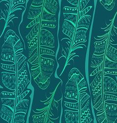 seamless pattern bird feathers vector image