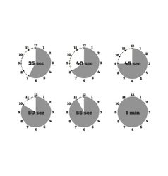 Set of Time Second Stopwatch Design Flat vector image
