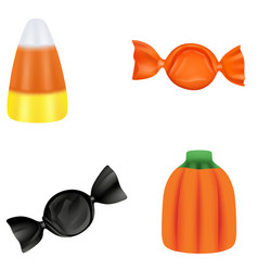 set typical halloween candies vector image