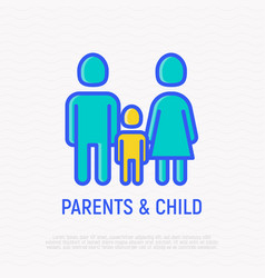 silhouette of family man woman and child vector image