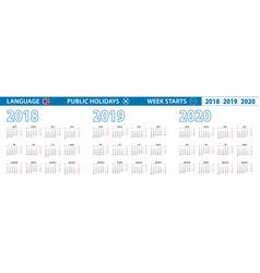 Simple calendar template in norwegian for 2018 vector
