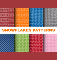 simple christmas patterns with snowflakes on vector image