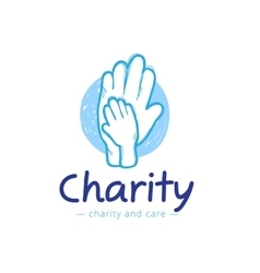 Sketch charity center logo hospital vector