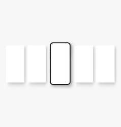 Smartphone with blank screen social media posts vector