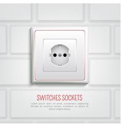Socket on wall vector
