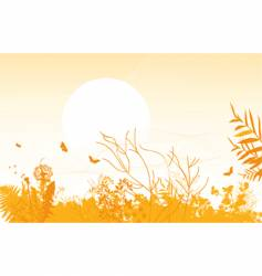 Spring meadows background vector