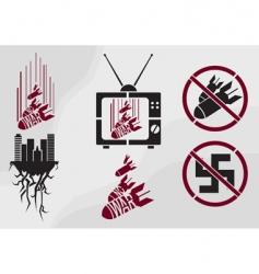 Stencil in propaganda style vector