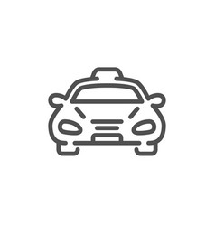 Taxi cab transport line icon car vehicle sign vector