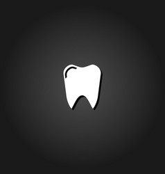 teeth icon flat vector image