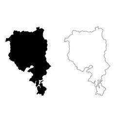 Ticino map vector