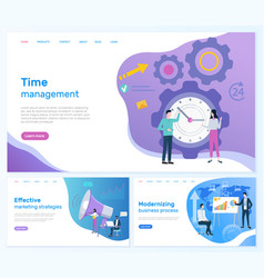 time management marketing or business development vector image