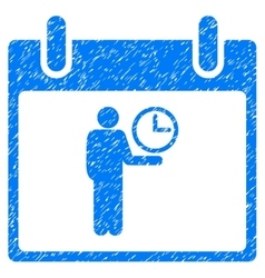 Time Manager Calendar Day Grainy Texture Icon vector