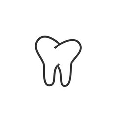 tooth dental icon graphic design template vector image