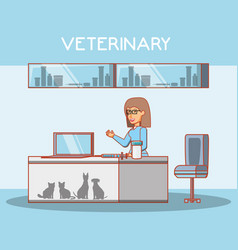 veterinary in attention office vector image
