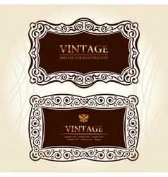 vintage frames labels vector decor vector image