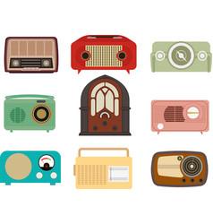vintage radio set vector image