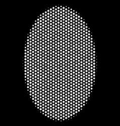 White pixel filled ellipse icon vector