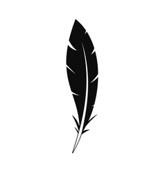 Wing feather icon simple style vector