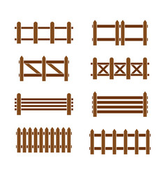 wood fence set vector image