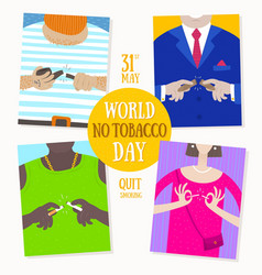 world no tobacco day concept vector image