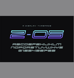 Z 05 display typeface font alphabet vector