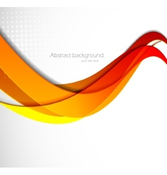 Abstract wavy vector image vector image
