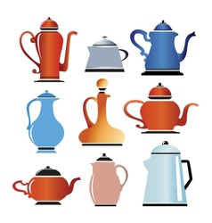 Colored cookware vector image vector image