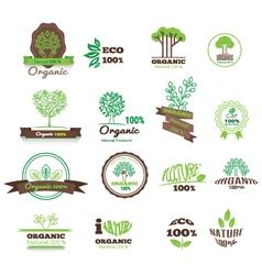 Set of logos stamps badges labels for natural vector image vector image