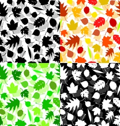 Texture of leaves vector image vector image