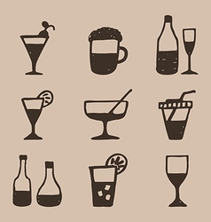 Alcohol an icon2 vector image vector image