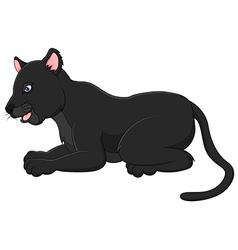 Cartoon black panther vector image