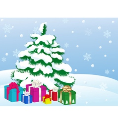 christmas gifts 3 vector image vector image