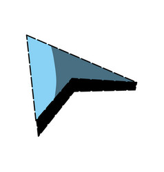 isolated web arrow vector image vector image
