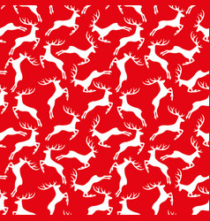 red pattern with reindeer vector image vector image