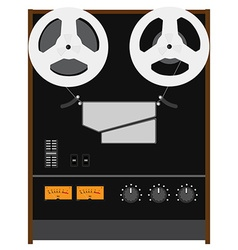 Reel to reel tape recorder vector image vector image