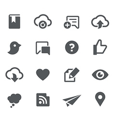 Social Sharing Icons - Apps Interface vector image