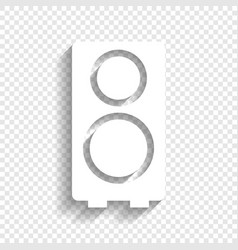 speaker sign white icon with vector image vector image