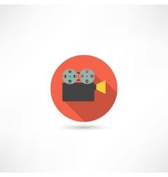 video camera icon vector image vector image