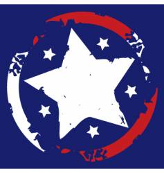 American stars and stripes symbol vector image
